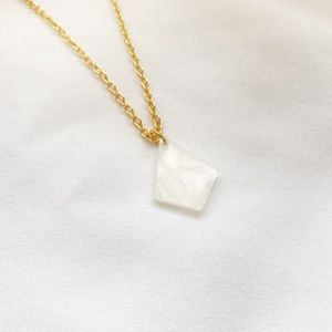 Jewelry - Rhombus Necklace Geometric Cellulose Acetate Charm